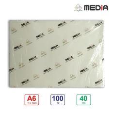 Màng Ép Plastic Media A6( 11x 16cm) 40Mic 100 Tờ/ Xấp
