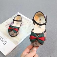 sandal bệt nơ vải cho bé