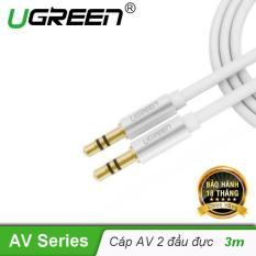Dây Audio 3.5mm 2 đầu đực dạng cáp tròn mạ vàng 24K, TPE cao cấp dài 3M UGREEN AV119 10754 – Hãng phân phối chính thức