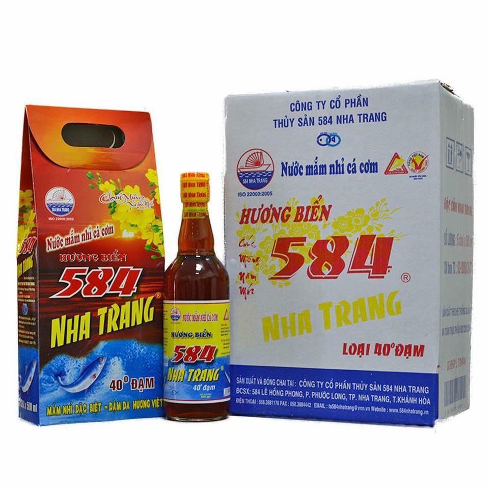Nước Mắm 584 Nha Trang chai TT 500ml - 40 độ đạm (6 chai)