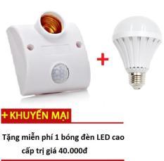 Đui đèn cảm ứng chuyển động thế hệ 2-TZ 2702-Nhanh hơn,Nhạy hơn- Tặng kèm 1 bóng LED trị giá 49k