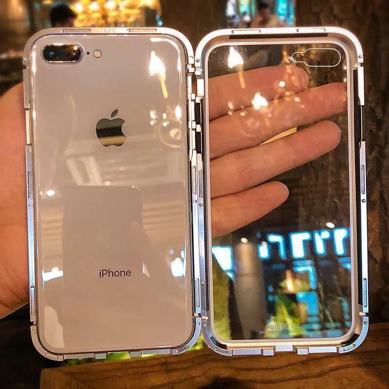 Mua Ốp lưng kính likgus 360 hút nâm châm viền kim loại dành cho dòng máy iPhone (iP6/iPX) ở đâu tốt?