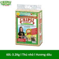 Lót chuồng cho thú nhỏ hương dâu Chipsi Strawberry 60L