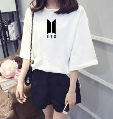 Áo thun nữ tay lỡ form rộng Hàn Quốc in hình logo fan club BTS vải dày mịn TEEWO112