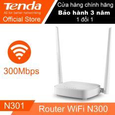 Bộ phát Wifi TENDA N301 (Trắng) – Hãng phân phối chính thức