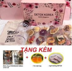 DETOX Trà hoa quả sấy khô KOREA-20 gói – TẶNG KÈM Bình nhựa PONGDANG 600ml- Mật ong- 3 gói đường -DANA Việt Nam