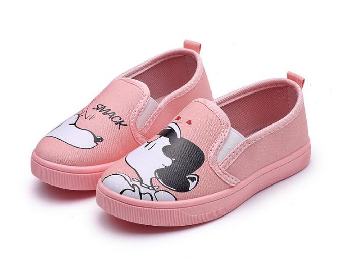 Giày slip on hồng cho bé gái