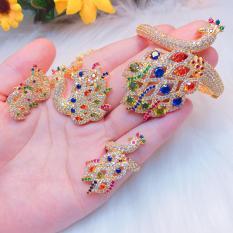 Bộ Trang Sức Nữ Vàng Công Hoàng Kim Gadoshop VB4140801 – Đeo đi tiệc cực đẹp cực sang trọng giá rẻ