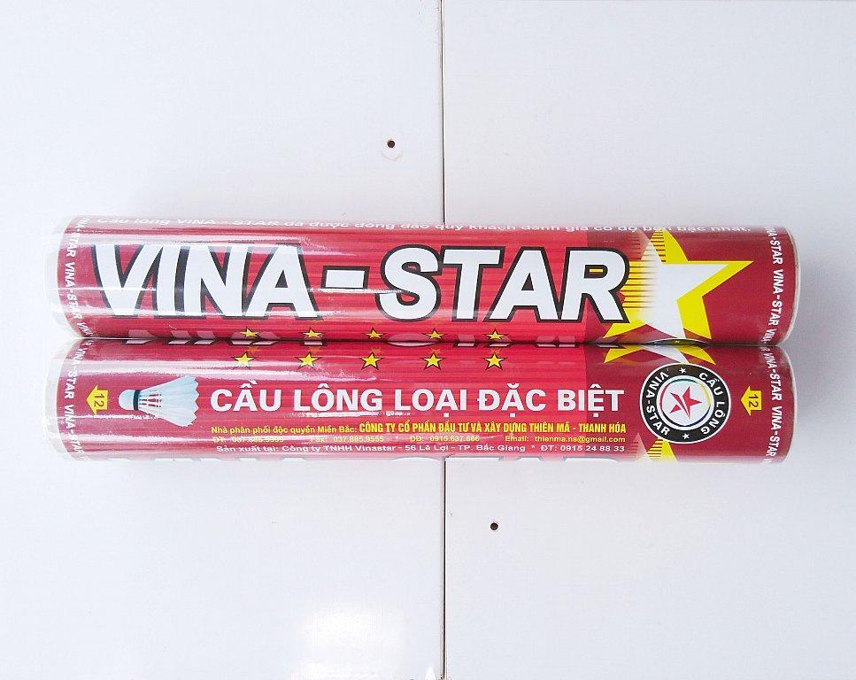 Combo 2 Ống Cầu Lông Vina Star - Đỏ