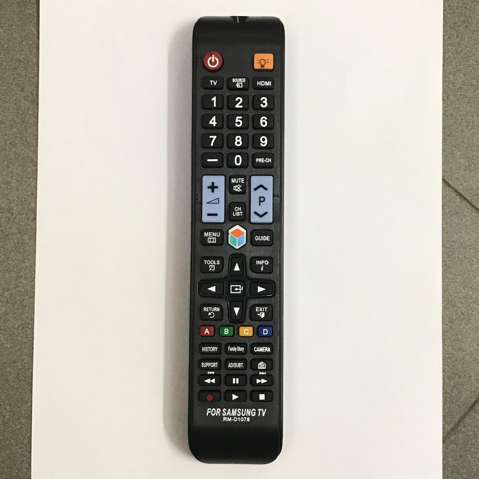 Điều Khiển TV Samsung Đa Năng RM-D1078+ – Dùng cho các dòng TV LCD/LED Samsung(Đen)