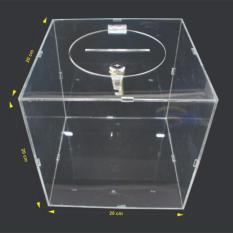 Thùng phiếu Mica 3 ly – H11 (KT: 20 x 20 x 20cm)