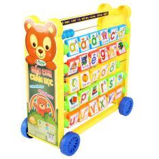 Bảng Học Chữ Số Đa Năng Gấu Con Chăm Học 8 Trong 1 Sato