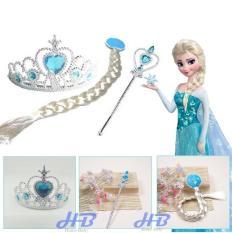 Phụ Kiện Vương Miệng, Đuôi Tóc, Gậy Phép Công Chúa Elsa Siêu Dễ Thương – HOME BABY 23
