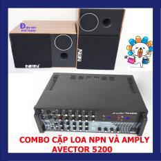 Dàn karaoke gia đình hay, Dàn karaoke gia đình giá rẻ COMBO CẶP LOA NPN VÀ AMPLY KARAOKE AVECTOR 5200