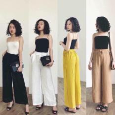 Quần đũi tơ dáng dài – Quần culottes vải mát