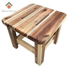 Ghế GỖ TRÀM VUÔNG, ghế đôn cafe, ghế gỗ phong cách