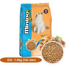 (Gói 1,5kg) MININO YUM (Blisk mới) Thức ăn viên cao cấp cho mèo, dùng cho mèo mọi lứa tuổi (hanpet 208)