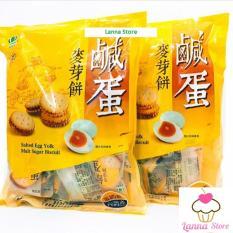 [Gói 500gr] COMBO 2 Gói Bánh Quy Nhân Trứng Muối Dẻo Đài Loan