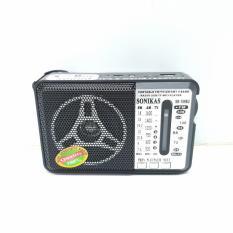 Đài Radio Pin Sạc SONIKAS SK-381 FM/AM/SW/USB/SD