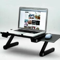 Bàn Để Laptop (Có 2 Quạt tản nhiệt + Bàn di chuột +2 miếng chặn laptop)