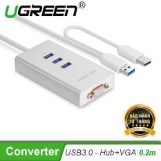 Bộ chuyển đổi USB 3.0 sang VGA và hub 3 cổng USB 3.0 40256