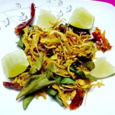 Khô gà lá chanh cay 1Kg loại 1 Lày Hòa (2 bịch zip 500g)