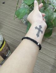 Combo 5 tấm hình xăm dán tattoo thánh giá tuyệt đẹp 10x6cm (Một tấm gồm nhiều hình. Mua 1 tặng 1 mini tattoo)