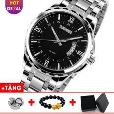 Đồng hồ nam dây thép không gỉ SKMEI SK013 – Boss Watches (Đen)