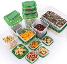Bộ 17 hộp đựng thực phẩm an toàn cho lò vi sóng tủ lạnh máy rửa bát