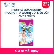[MỚI] Tã quần Bobby (hương trà xanh) gói siêu lớn XL-48 miếng (12 – 17kg)