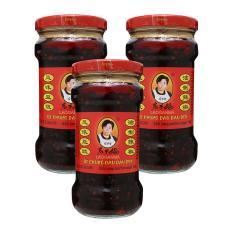 COMBO 3 Lọ ớtt chưng dầu LaoGanMa vị đậu đen 275g