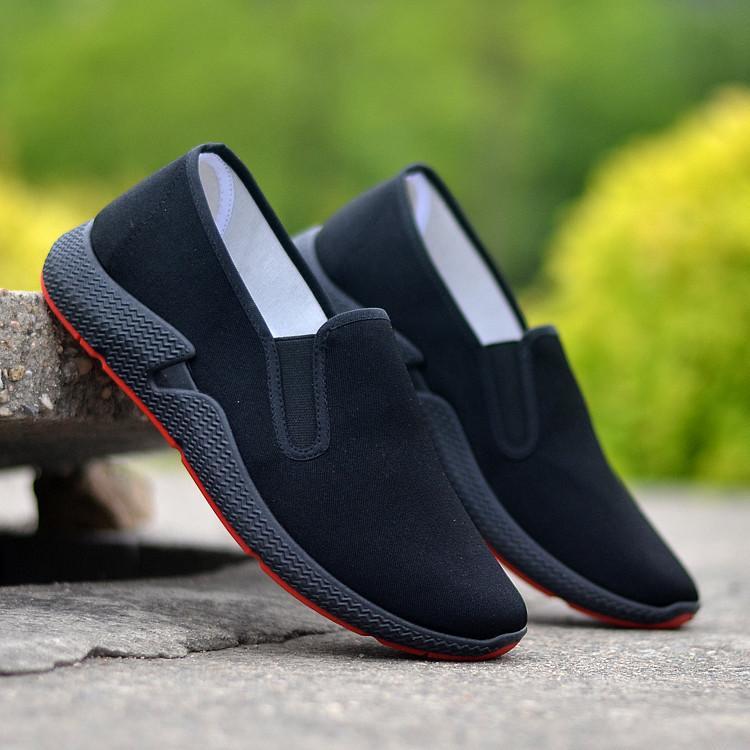 Giày nam vải lười thời trang GN353 đen