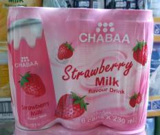 Nước Ngọt Chabaa Thái Lan Vị Sữa Dâu -Lốc 6 lon 230ml