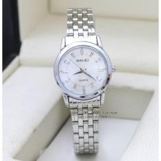 Đồng hồ nữ dây thép không gỉ chống nước Halei mạ vàng HA502
