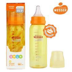 Bình sữa Wesser Nano Silver cổ hẹp 250ml ( Màu vàng)