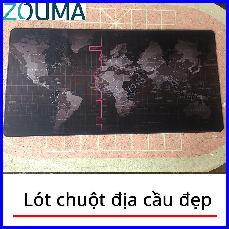 Đánh giá Lót chuột bàn phím ZOUMA, Miếng lót chuột Bản Đồ Thế Giới ( 80x 40cm) Tại ZOUMA SHOP