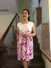 Đầm bầu họa tiết hoa nhí (tím)