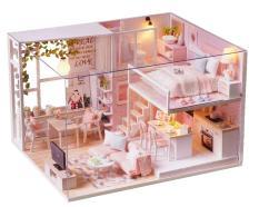 Bộ lắp ghép DIY – Pink House L022 (Tặng Mica che bụi + Keo sữa)