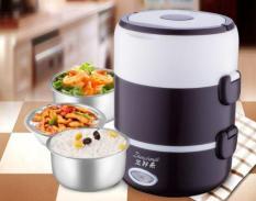 Hộp cơm cắm điện inox 3 ngăn nóng cực nhanh