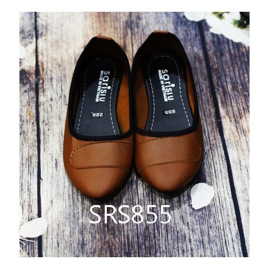 Giày búp bê dây ngang Sarisiu SRS855 (Bò)