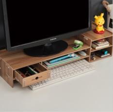 Bàn kê màn hình máy tính Monitor, Laptop đa năng bằng gỗ ghép có hộc tủ nhỏ tiện dụng cao cấp size lớn -MS 5088E