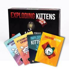Set Mèo Nổ Tưng Bừng: Combo Mèo nổ Exploding Kittens + 4 Bản mở rộng (18+)