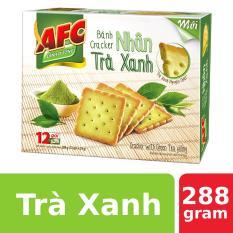 Bánh Cracker AFC Nhân Trà Xanh 288g (12 gói)