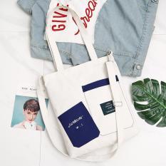 Túi tote 2 túi phối màu thời trang hot 2019 TNT-771