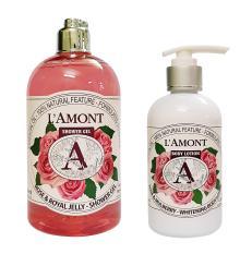 Combo Sữa Tắm (500ml) Và Sữa Dưỡng Thể (250ml) Lamont En Provence Rose (hoa hồng)