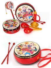 Bộ đồ chơi Trung thu 6 chi tiết trống kèn xúc xăc họa tiết cổ truyền cho bé phát triển giác quan
