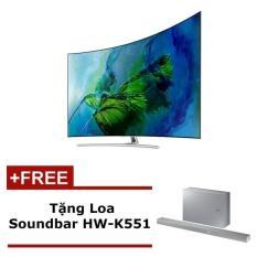 Smart TV QLED màn hình cong Samsung 65inch 4K – Model QA65Q8CAMKXXV(Bạc) – Hãng phân phối chính thức + Tặng Loa Soundbar HW-K551