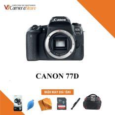 Canon EOS 77D Body – Nhập Khẩu – Tặng kèm thẻ nhớ 32gb, túi Canon Focus, bóng thổi, khăn lau, bút lau, dán màn hình