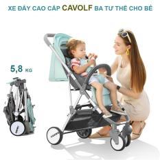 Xe đẩy trẻ em cao cấp CAVOLF gấp gọn du lịch, kiểu dáng sang trọng (Ba tư nằm thế cho bé)