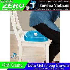 Đệm Egg Sitter Magic Cushion – Gel lưới 3d thoáng + Tặng túi đựng 20K – loại 1 kích thước to 42x35x5 – nệm lót ghế ngồi êm ái chống đau lưng dùng cho ghế văn phòng ghế gaming ghế xe oto màu xanh – Emvina Vietnam